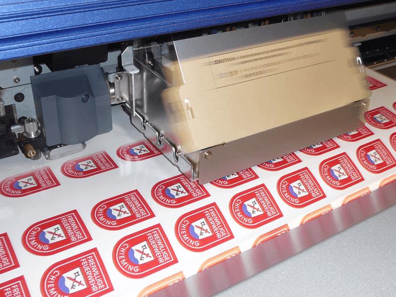 Digitaldruck auf weiße SK-Folie