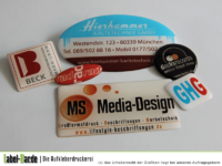 Hochwertige 3D-Aufkleber im Digitaldruck