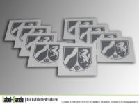 Siebdruckaufkleber transparent mit Metallicdruck